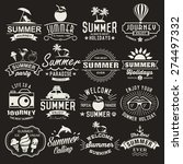 summer logotypes set. summer... | Shutterstock .eps vector #274497332
