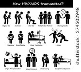 how hiv aids spread transmitted ... | Shutterstock .eps vector #274502948