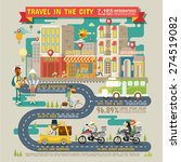 travel in the city infographics | Shutterstock .eps vector #274519082