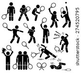 tennis player actions poses... | Shutterstock .eps vector #274520795