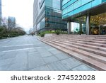 empty road near modern building ... | Shutterstock . vector #274522028