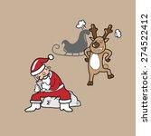santa internet addicted cartoon ... | Shutterstock .eps vector #274522412