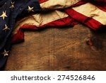 Stock photo old american flag background for memorial day or th of july 274526846