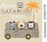 african wild animals zebra... | Shutterstock .eps vector #274527755