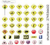traffic sign vector design   Shutterstock .eps vector #274536632