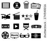 movie and cinema vector icons... | Shutterstock .eps vector #274540016