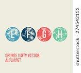 e f g h grunge retro circular... | Shutterstock .eps vector #274542152