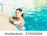 beautiful woman relaxing in a... | Shutterstock . vector #274542206