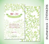 watercolor card templates for... | Shutterstock .eps vector #274546346