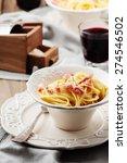 Spaghetti Carbonara With Red...
