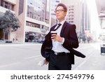 businessman swalking in street... | Shutterstock . vector #274549796