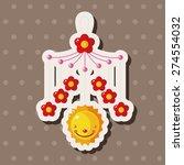 baby hanging   cartoon sticker...   Shutterstock . vector #274554032