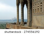 view of the taj mahal from... | Shutterstock . vector #274556192