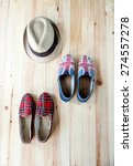 set of clothes and various... | Shutterstock . vector #274557278