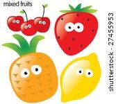 isolated fruit set 2 | Shutterstock .eps vector #27455953