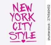 New York City Style Typography...