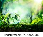 crystal globe resting on moss...