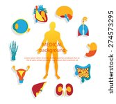 medical background. flat design ... | Shutterstock .eps vector #274573295