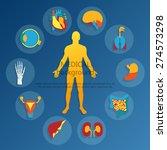 medical background. flat design ... | Shutterstock .eps vector #274573298