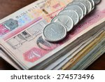 many one dirham coins placed on ... | Shutterstock . vector #274573496