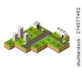 vector isometric city center on ... | Shutterstock .eps vector #274577492