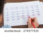 close up of person marking... | Shutterstock . vector #274577525
