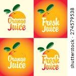 set of vector banners for fresh ... | Shutterstock .eps vector #274579538
