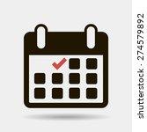 calendar flat icon   vector | Shutterstock .eps vector #274579892