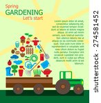 gardening design elements.... | Shutterstock .eps vector #274581452