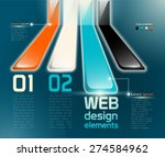 web design elements with... | Shutterstock .eps vector #274584962