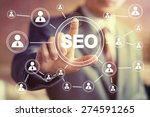 business button seo... | Shutterstock . vector #274591265