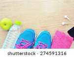 sport shoes and water with set...   Shutterstock . vector #274591316