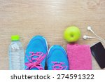 sport shoes and water with set... | Shutterstock . vector #274591322
