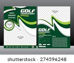 golf tournament flyer design... | Shutterstock .eps vector #274596248