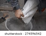 Construction Worker Pouring Th...