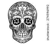 vector black and white tattoo... | Shutterstock .eps vector #274596992