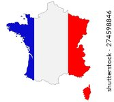 Map Of France Painted In...