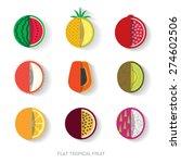 tropical fruit flat design ... | Shutterstock .eps vector #274602506