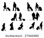 passenger silhouettes collection | Shutterstock .eps vector #27460480