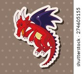 dragon   cartoon sticker icon | Shutterstock . vector #274605155