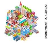 isometric building urban city... | Shutterstock .eps vector #274606922