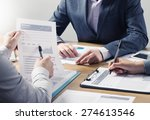 financial service professional... | Shutterstock . vector #274613546