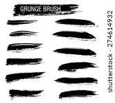 set of hand drawn grunge brush... | Shutterstock .eps vector #274614932