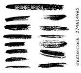 set of hand drawn grunge brush...   Shutterstock .eps vector #274614962