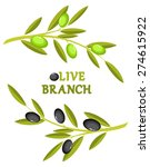 olive branch wreath | Shutterstock .eps vector #274615922