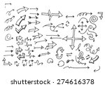 vector hand drawn arrows set... | Shutterstock .eps vector #274616378