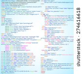 abstract html code listing ... | Shutterstock .eps vector #274616618