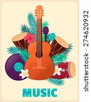 guitar with percussion and... | Shutterstock .eps vector #274620932