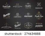 set of vector fastfood fast... | Shutterstock .eps vector #274634888