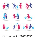 collection of family icons  ... | Shutterstock .eps vector #274637735